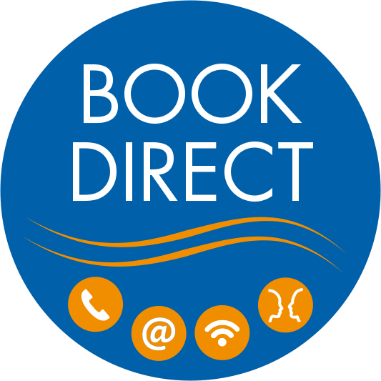 Book direct and get 5% discount