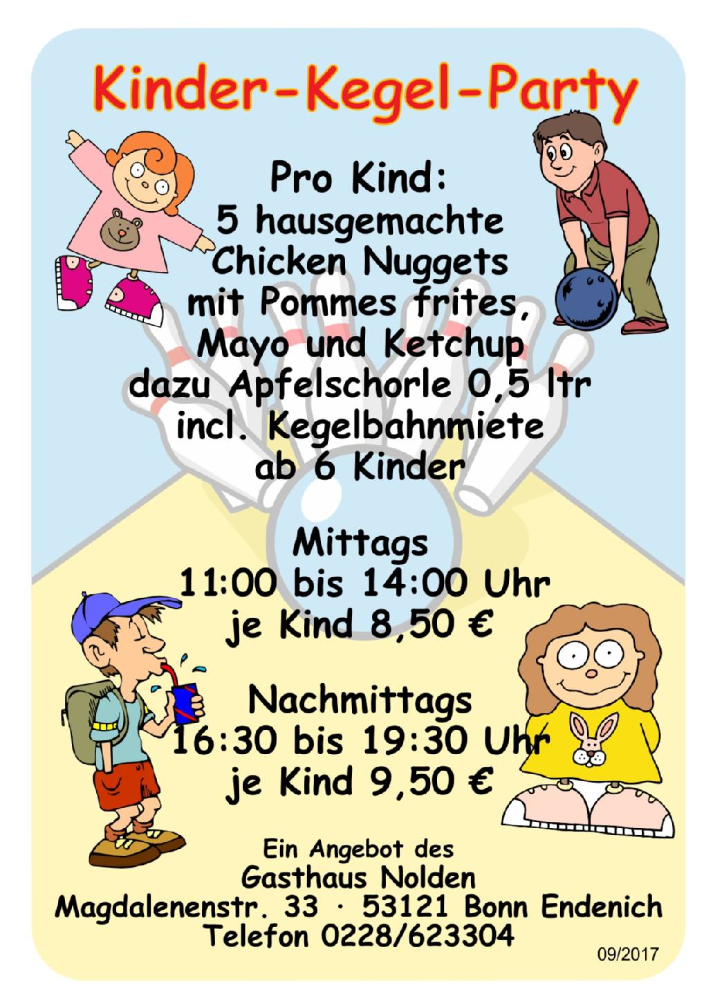 Kinder-Kegel-Party