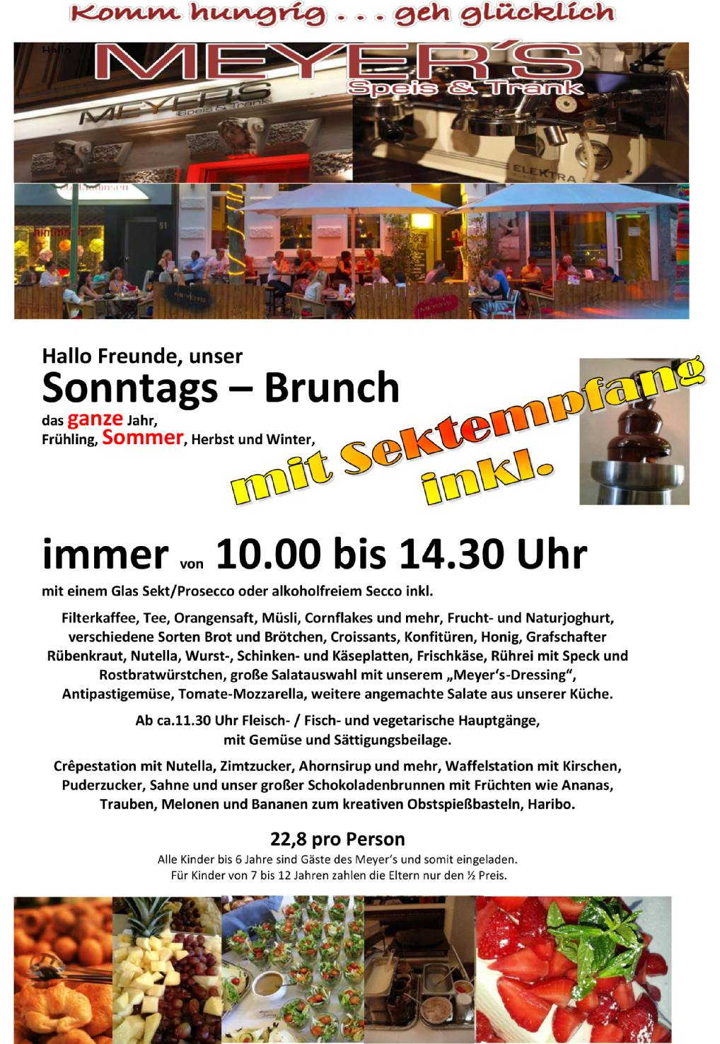 Brunch Bonn, lecker Brunchen, Sonntagsbrunch