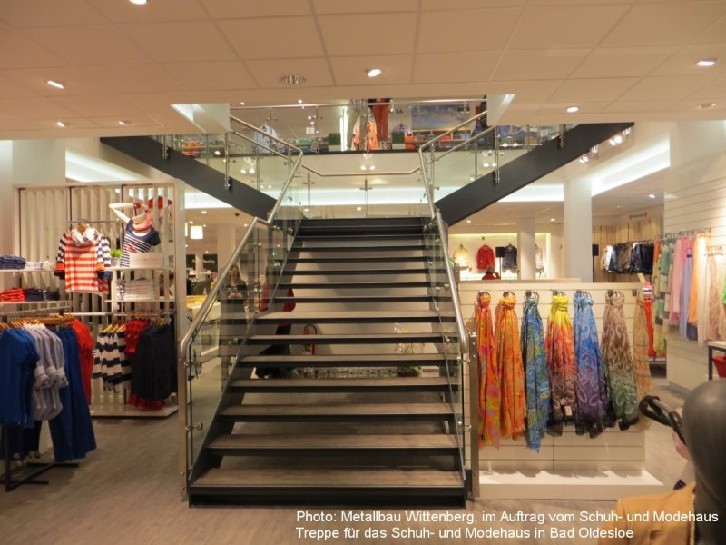 Photo: Metallbau Wittenberg, on behalf of fashion house, steel stairca
