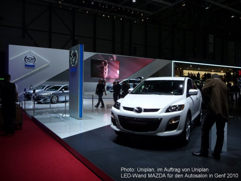 Photo: Uniplan, on behalf of Uniplan, LED wall MAZDA on the car fair i