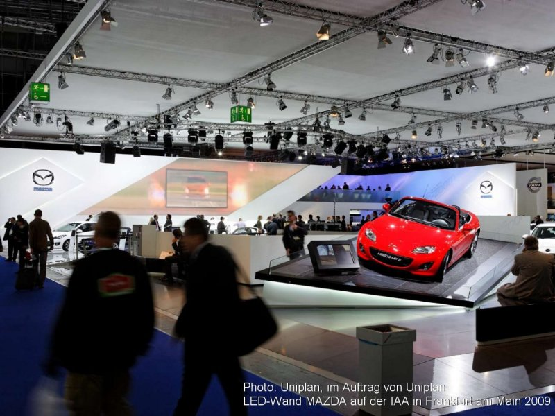 Photo: Uniplan, on behalf of Uniplan, LED wall MAZDA on the Internatio