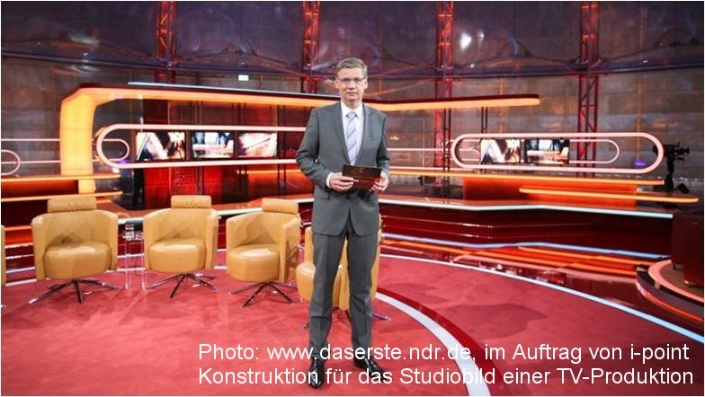 Photo: www.daserste.ndr.de, on behalf of i-point, Stage decoration for
