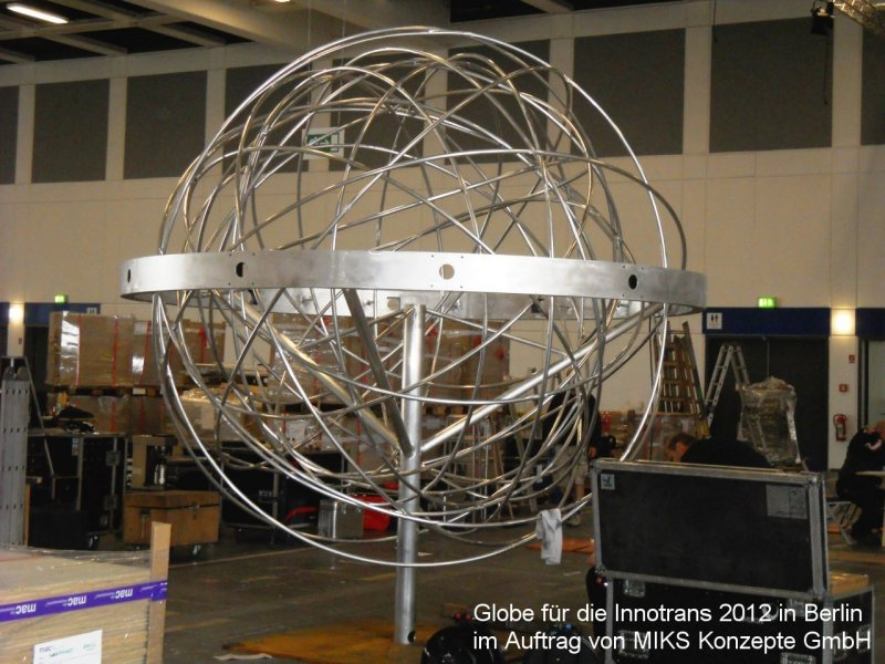 Photo: Metallbau Wittenberg, on behalf of MIKS Konzepte GmbH Globe of