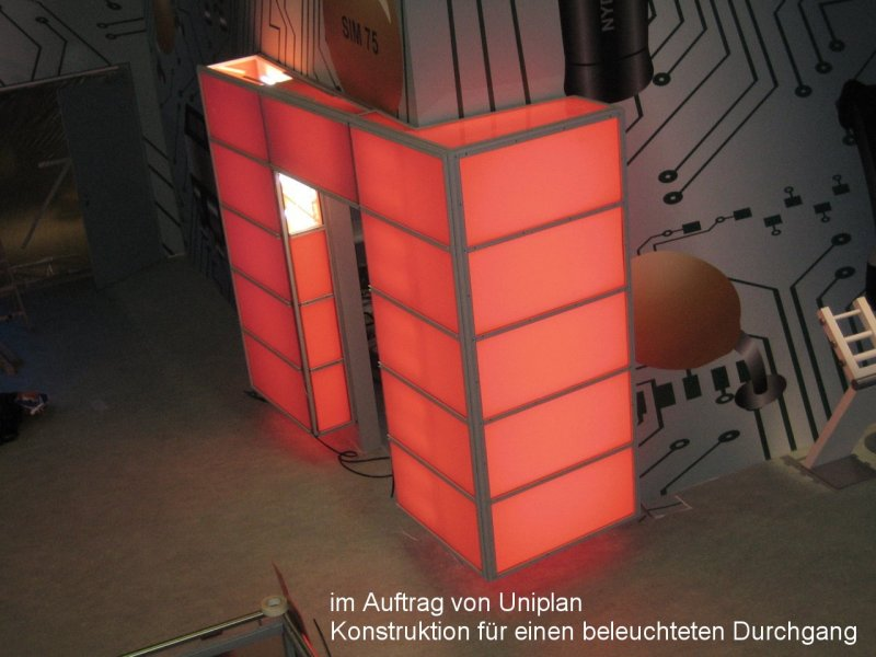 Photo: Metallbau Wittenberg, on behalf of Uniplan, Construction for an