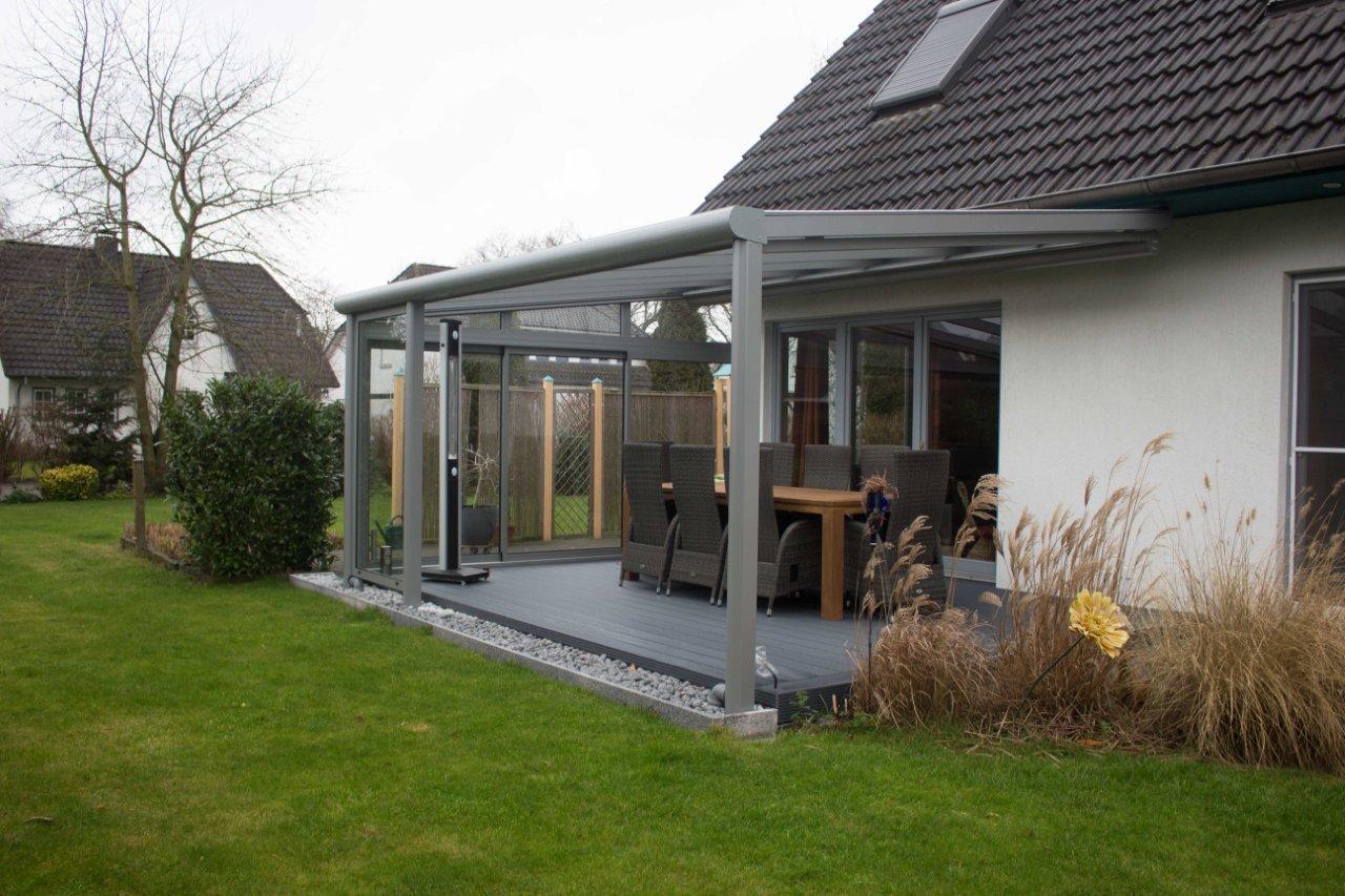 Glasdach Terrasse seidel sonnenschutz in baldham münchen und erding terrassen