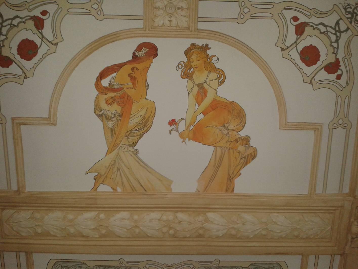 Jugendstil Malerei deckenmalerei malermeister norbert schimpf