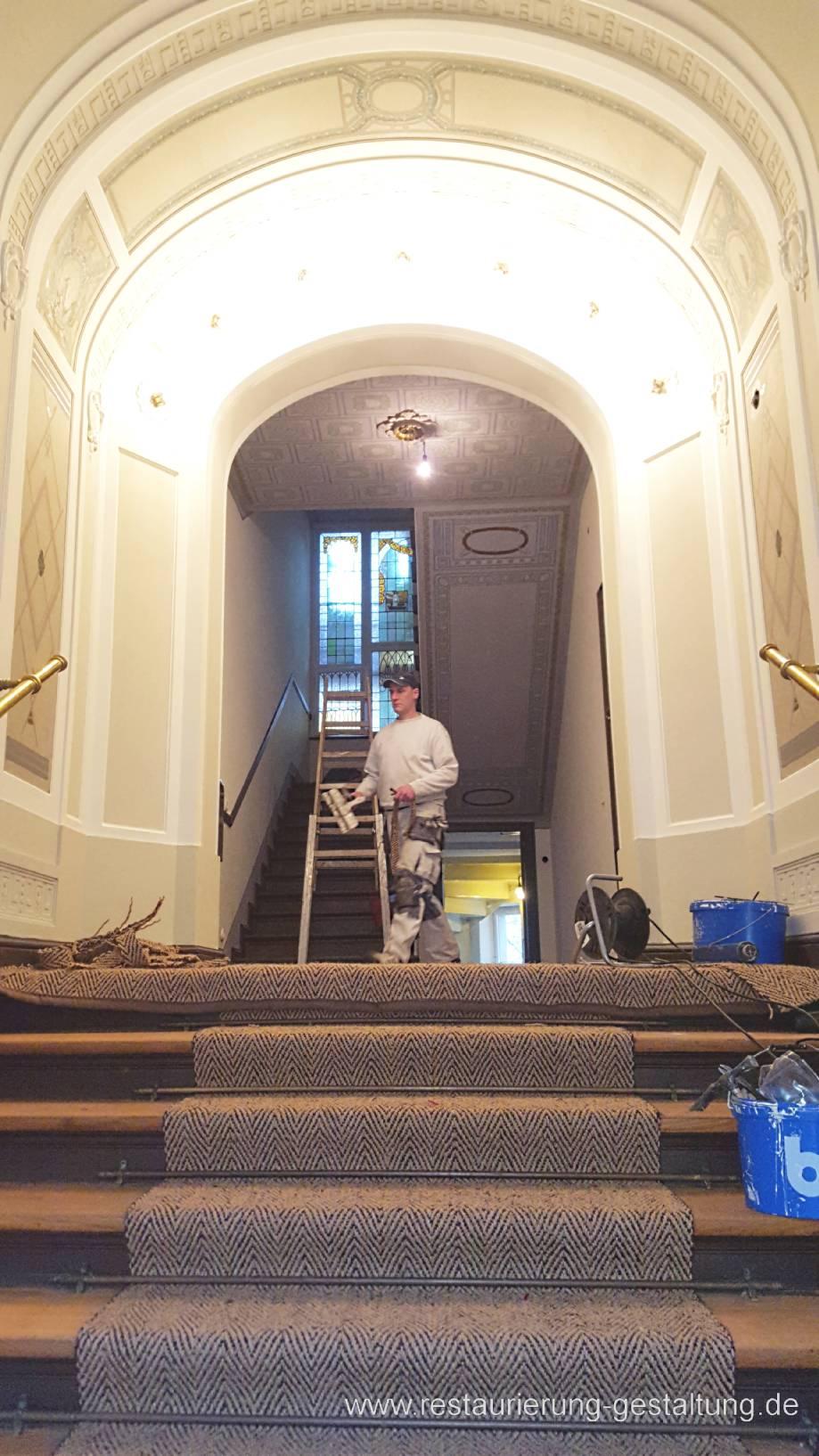 treppenhaus maler malerarbeiten restaurator. Black Bedroom Furniture Sets. Home Design Ideas