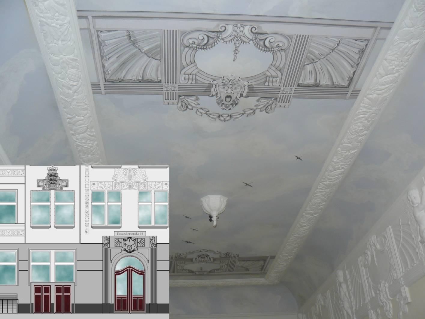 jugendstil treppenhaus fassade und entree restaurierung. Black Bedroom Furniture Sets. Home Design Ideas