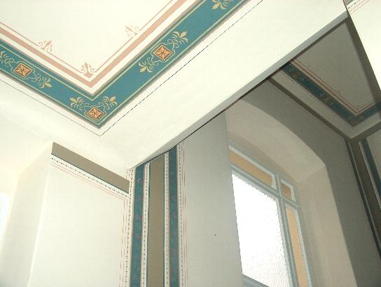 deckenmalerei und wandmalerei im treppenhaus aus der gr nderzeit. Black Bedroom Furniture Sets. Home Design Ideas