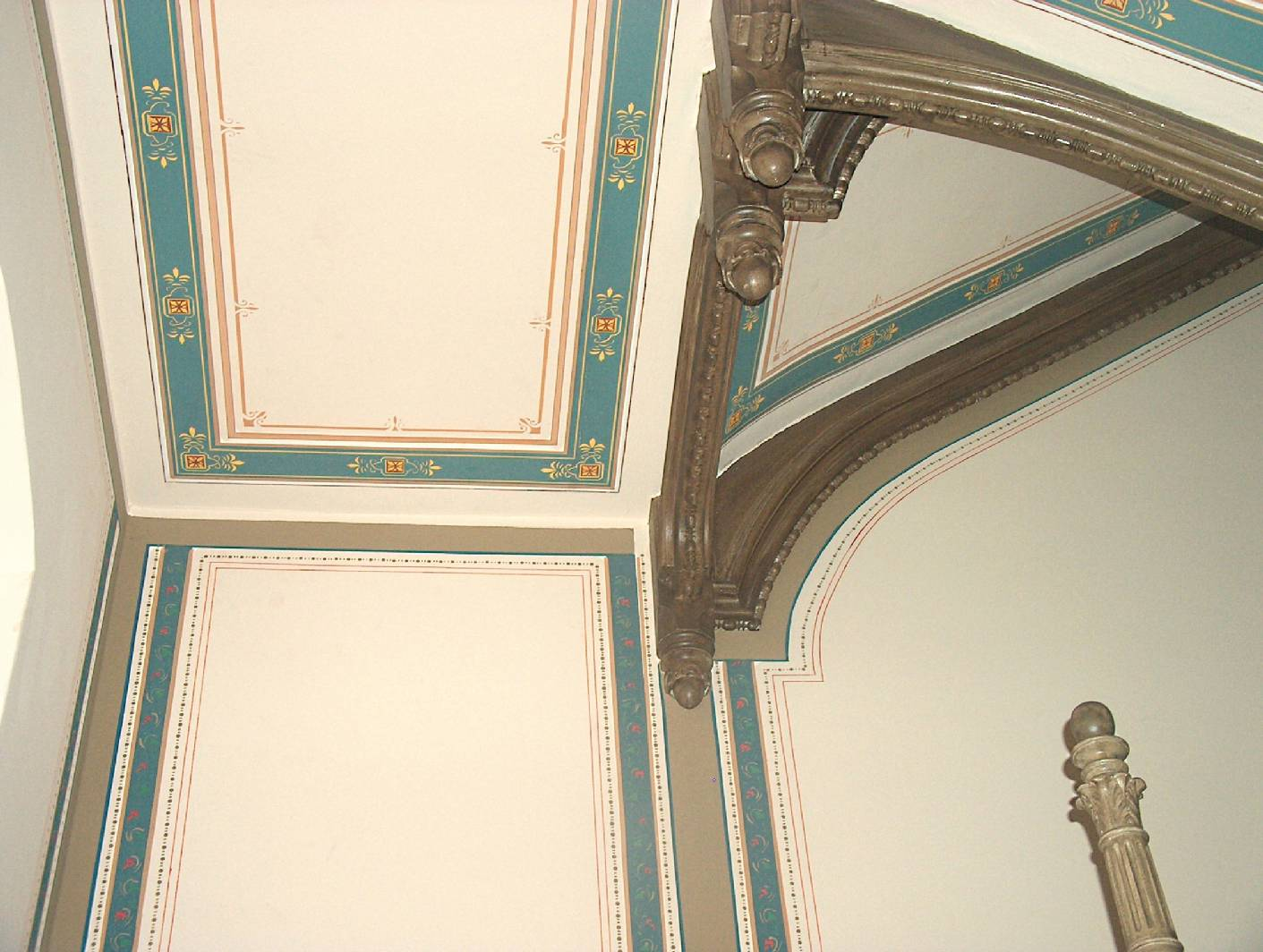 Deckenmalerei und wandmalerei im treppenhaus aus der - Wandmalerei berlin ...