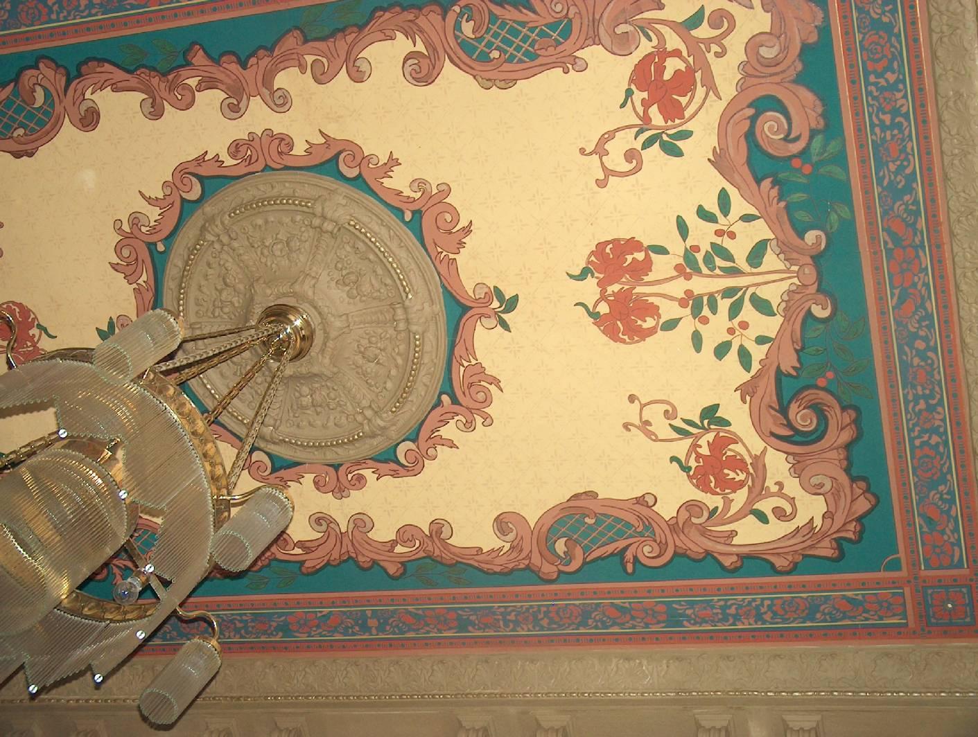 deckenmalerei und wandmalerei im treppenhaus aus der. Black Bedroom Furniture Sets. Home Design Ideas