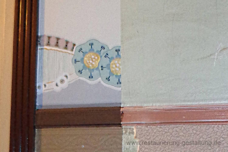 Die Musterachse Im Treppenhaus Aus Dem Jugendstil Wurde Vor Der Sanierung  Des Hauses Angelegt. Die