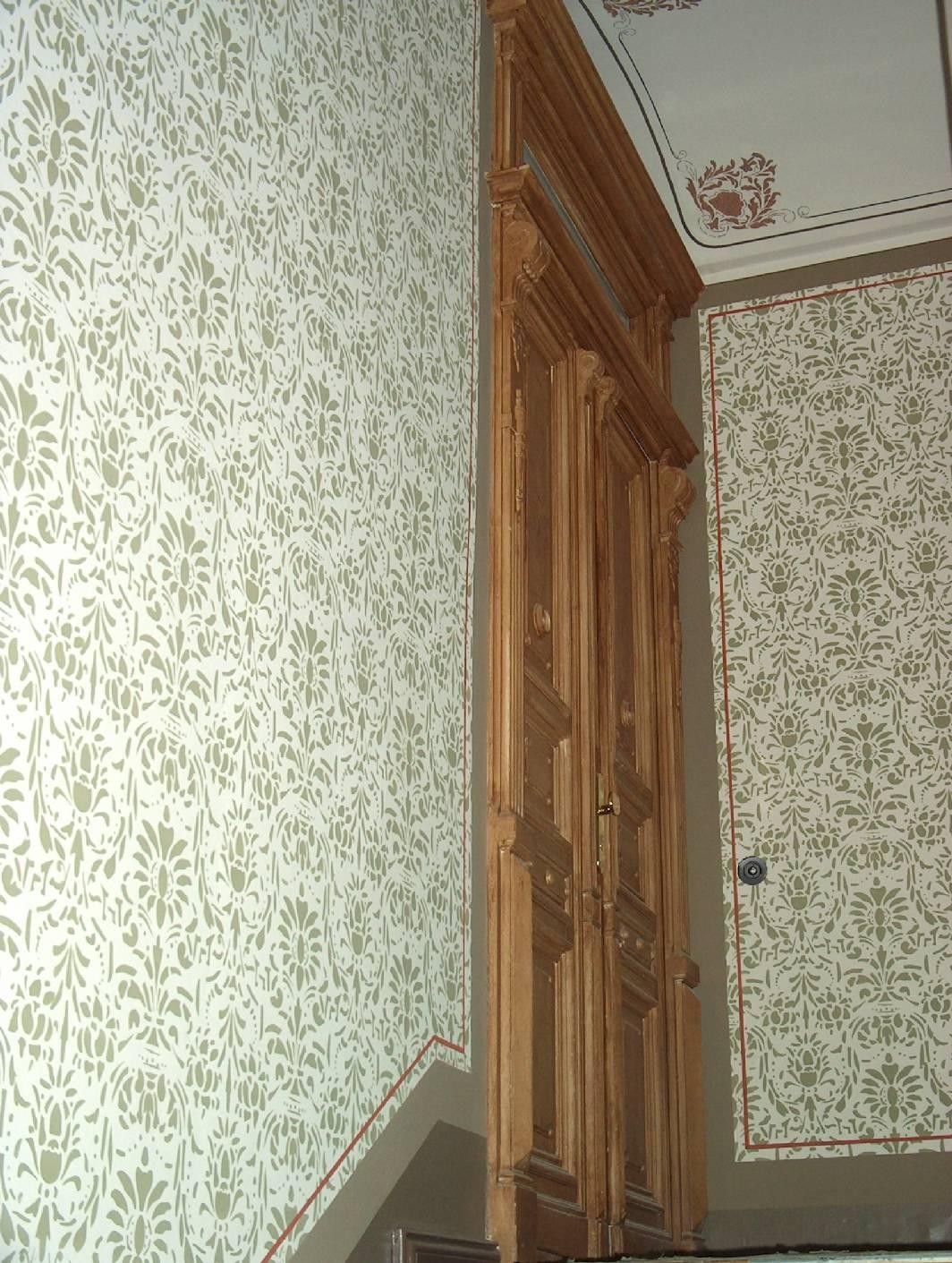 gründerzeitliche treppenhausmalerei in schablonentechnik und, Wohnzimmer dekoo