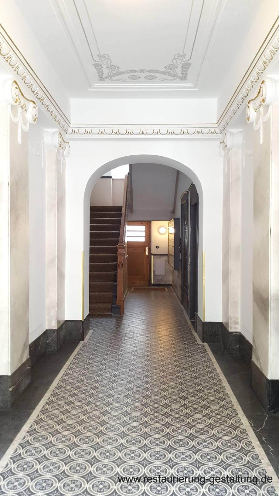 Treppenhaus / Marmormalerei / Restaurator / Deckenmalerei ... Gestaltung Treppenhaus Altbau