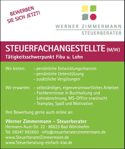 Werner Zimmermann Steuerberater - Karriere