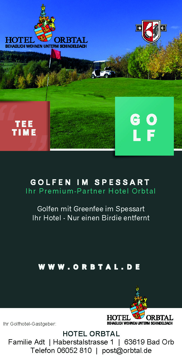 Golf Arrangement TEE TIME - Golfhotel Orbtal im Spessart