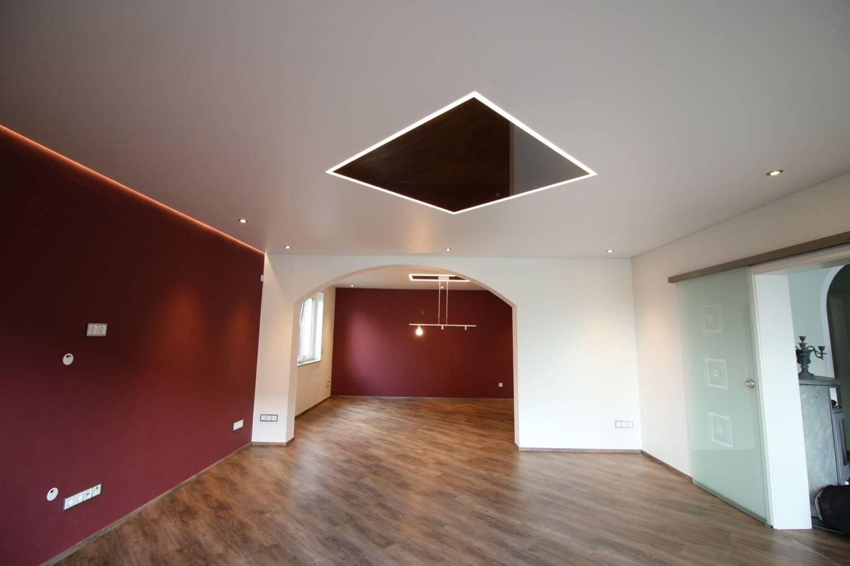 Deckensanierung durch moderne spanndecken - Beleuchtungssysteme wohnzimmer ...