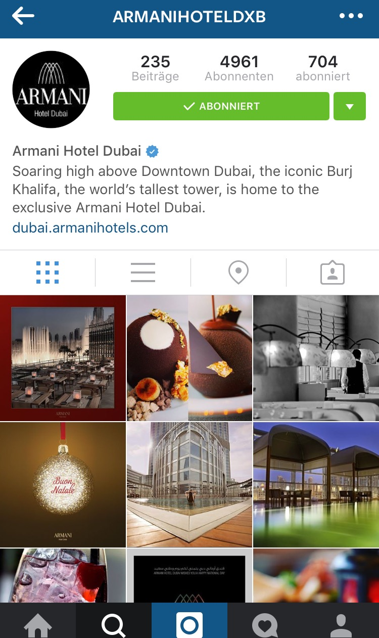 Armani Hotel Dubai on Instagram