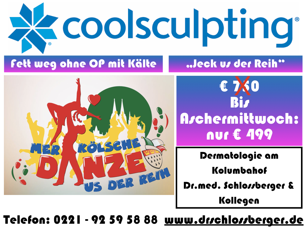 Coolsculpting Aktion Kryolipolyse Köln Karneval