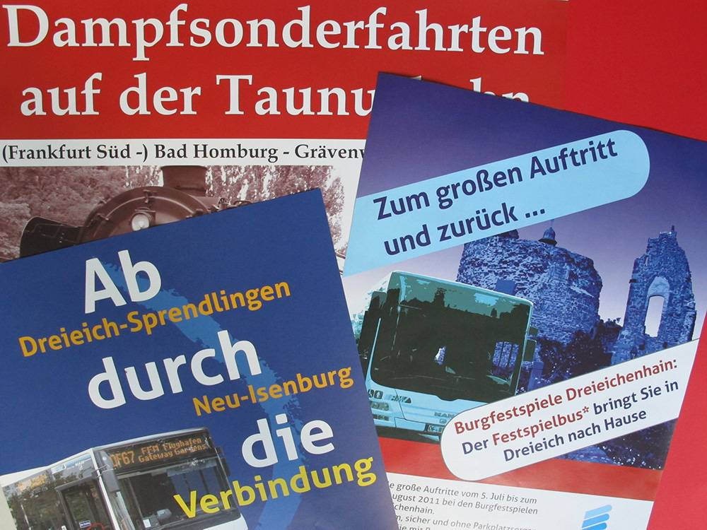 Plakate für das ÖPNV-Marketing