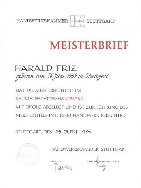 Sch ner wohnen mit raumausstattung friz in stuttgart home for Meister raumausstatter