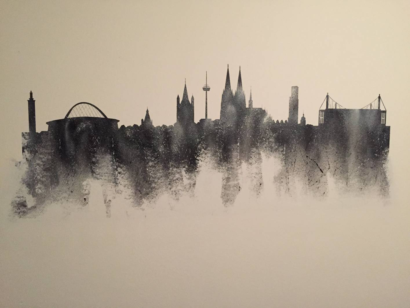 Köln Skyline Graffiti by Don Fu