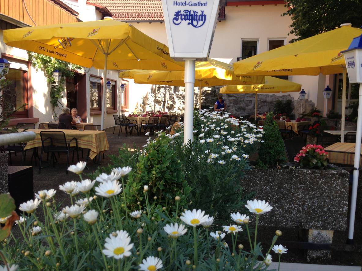 The terrace of our restaurant in Kaiserslautern is also suitable for celebrations.