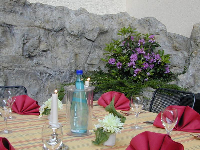 In summer you can enjoy all the specialties our restaurant in Kaiserslautern offers you on the terrace.
