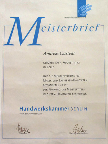 Meisterbrief, Andreas Gustedt
