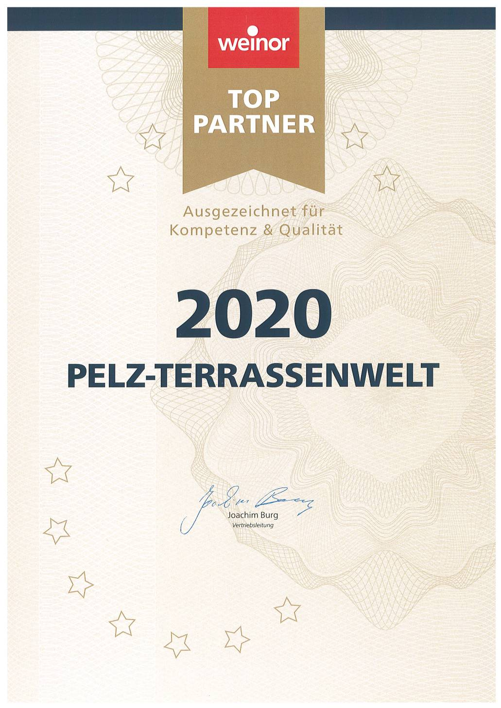 weinor Top-Partner | seit 2007