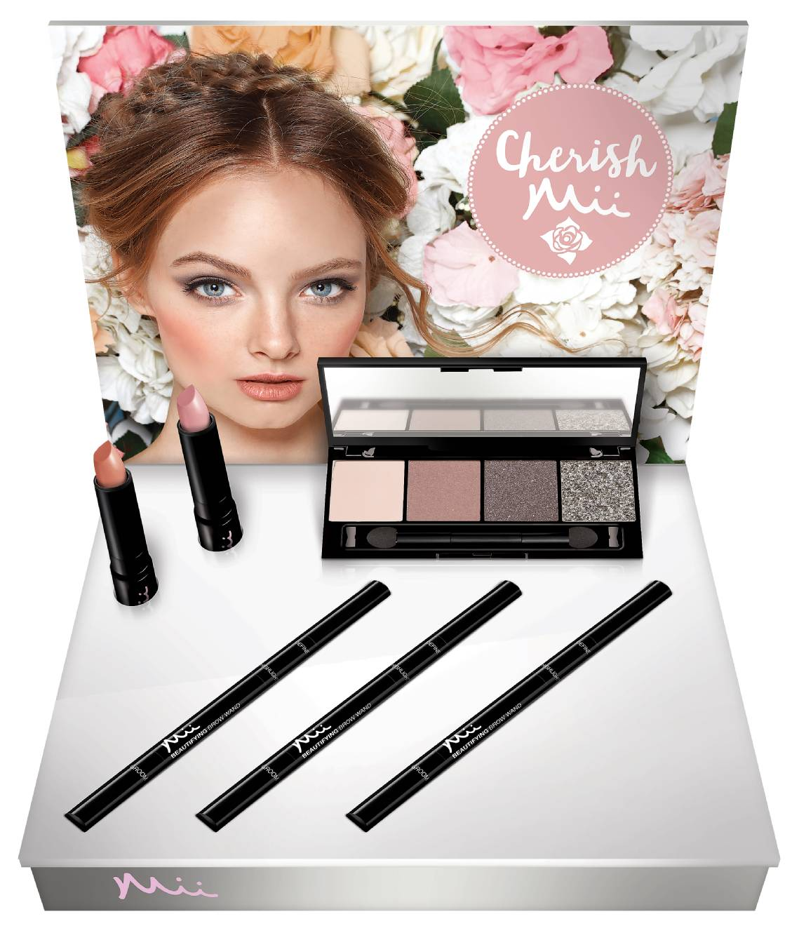 Cherish Mii Display, Mii Cosmetics, Romantik Collection