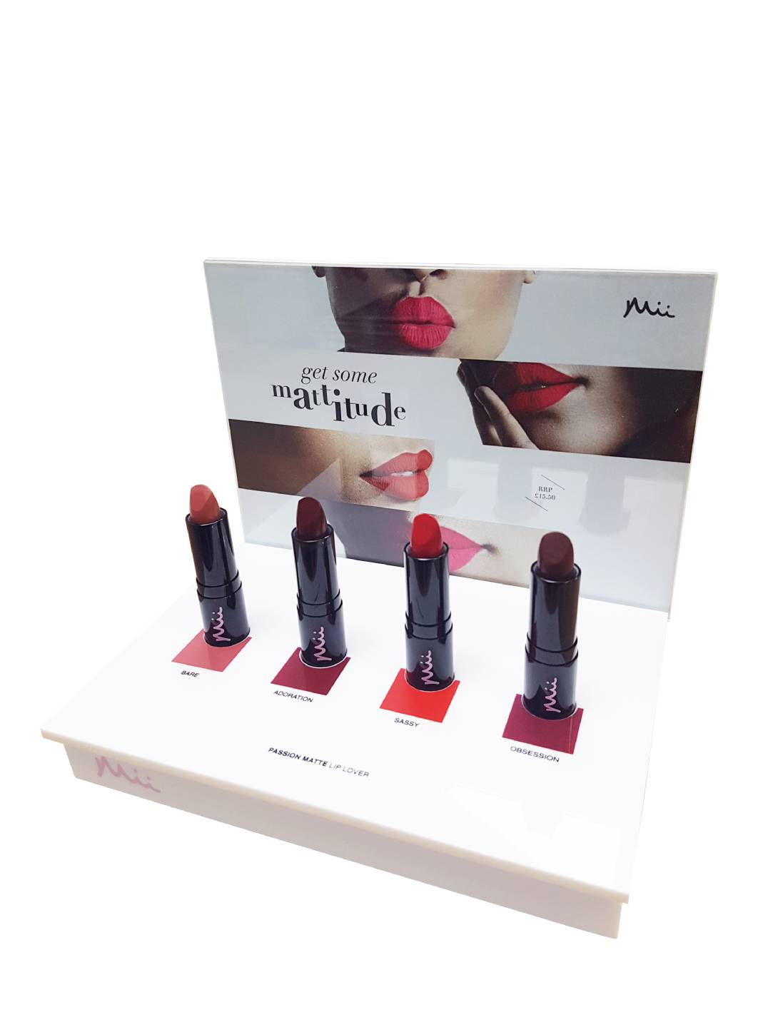Matte Lippenstifte Display, Passion Matte Display