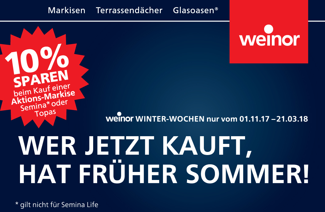 Weinor-Winter-Wochen