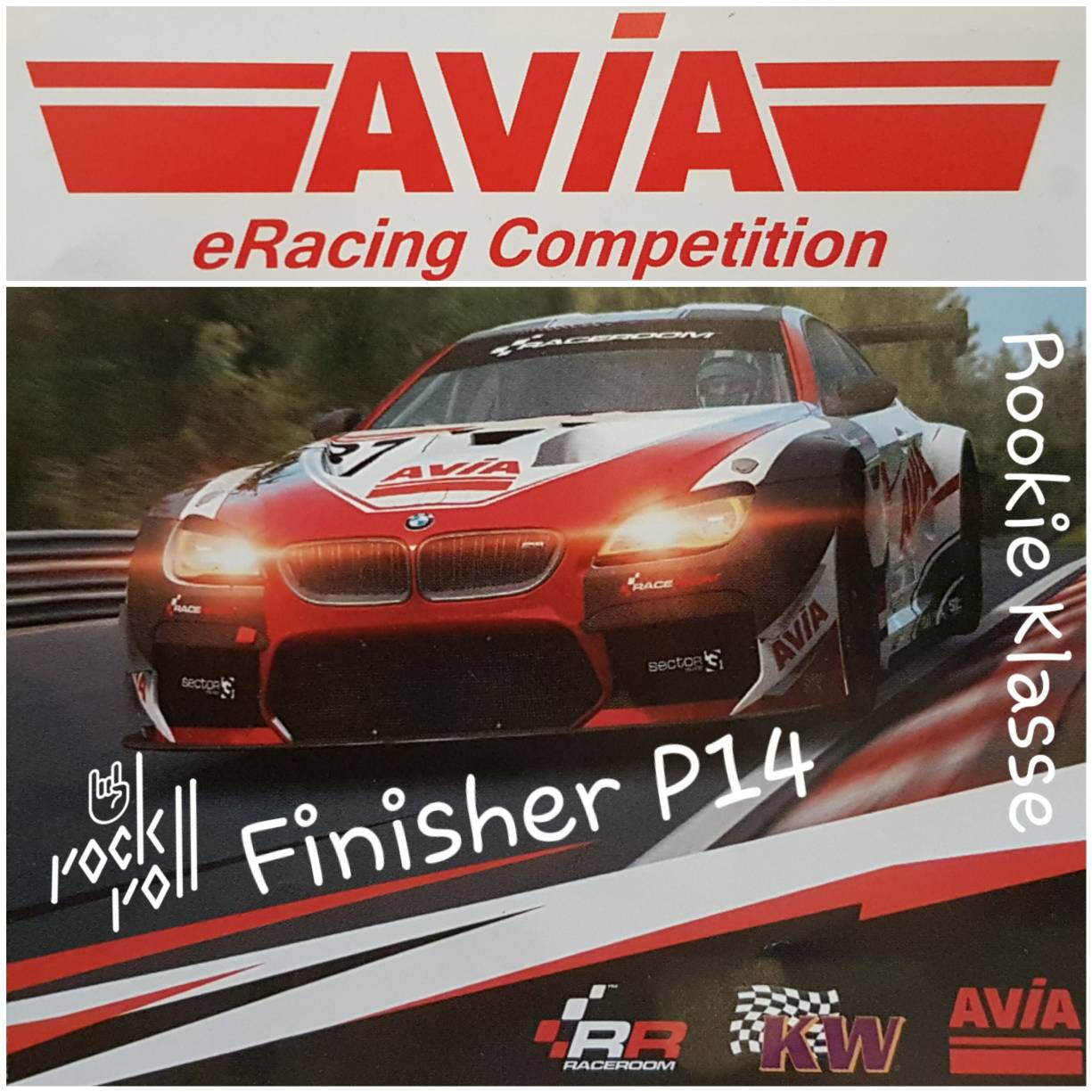 Avia eRacing Competition Finisher P14